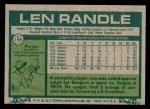 1977 Topps #196  Len Randle  Back Thumbnail