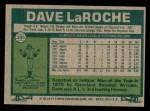 1977 Topps #385  Dave LaRoche  Back Thumbnail