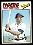 1977 Topps #637  Alex Johnson  Front Thumbnail