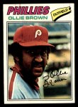 1977 Topps #84  Ollie Brown  Front Thumbnail