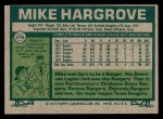 1977 Topps #275  Mike Hargrove  Back Thumbnail