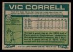 1977 Topps #364  Vic Correll  Back Thumbnail