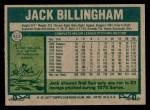 1977 Topps #512  Jack Billingham  Back Thumbnail