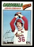 1977 Topps #541  John Denny  Front Thumbnail