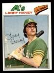 1977 Topps #12  Larry Haney  Front Thumbnail