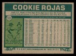 1977 Topps #509  Cookie Rojas  Back Thumbnail