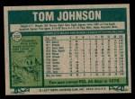 1977 Topps #202  Tom Johnson  Back Thumbnail