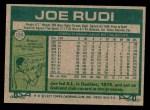 1977 Topps #155  Joe Rudi  Back Thumbnail