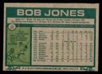 1977 Topps #16  Bob Jones  Back Thumbnail