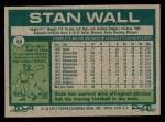 1977 Topps #88  Stan Wall  Back Thumbnail