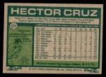 1977 Topps #624  Hector Cruz  Back Thumbnail