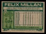 1977 Topps #605  Felix Millan  Back Thumbnail