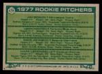1977 Topps #478   -  Jim Gideon / Leon Hooten / Dave Johnson / Mark Lemongello Rookie Pitchers   Back Thumbnail
