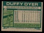 1977 Topps #318  Duffy Dyer  Back Thumbnail