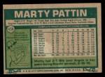 1977 Topps #658  Marty Pattin  Back Thumbnail