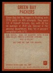 1965 Philadelphia #71   -  Green Bay Packers  Packers Team Back Thumbnail
