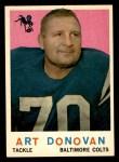 1959 Topps #86  Art Donovan  Front Thumbnail