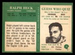 1966 Philadelphia #7  Ralph Heck  Back Thumbnail
