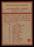 1965 Philadelphia #196   -  Bill McPeak  Washington Redskins Back Thumbnail