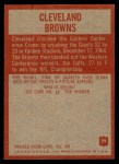 1965 Philadelphia #29   Browns Team Back Thumbnail