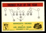 1964 Philadelphia #112   -  Norm Van Brocklin Vikings Play of the Year Front Thumbnail