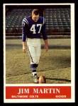 1964 Philadelphia #5  Jim Martin     Front Thumbnail