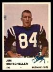 1961 Fleer #34  Jim Mutscheller  Front Thumbnail