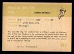 1961 Fleer #149  Willie Smith  Back Thumbnail