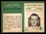1966 Philadelphia #178  Gary Lewis  Back Thumbnail