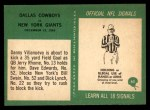 1966 Philadelphia #65   -  Danny Villanueva / Jerry Rhome Dallas Cowboys Back Thumbnail