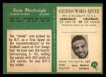 1966 Philadelphia #12  Ernie Wheelwright  Back Thumbnail