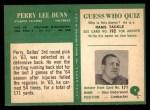 1966 Philadelphia #4  Perry Lee Dunn  Back Thumbnail
