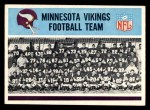 1966 Philadelphia #105   Vikings Team Front Thumbnail