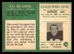 1966 Philadelphia #100  Ed Meador  Back Thumbnail