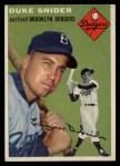 1954 Topps #32  Duke Snider  Front Thumbnail