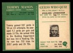 1966 Philadelphia #111  Tommy Mason  Back Thumbnail