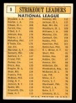 1963 Topps #9   -  Sandy Koufax / Don Drysdale / Bob Gibson / Dick Farrell / Billy O'Dell NL Strikeout Leaders Back Thumbnail