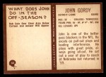 1967 Philadelphia #64  John Gordy  Back Thumbnail