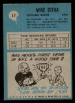 1964 Philadelphia #17  Mike Ditka    Back Thumbnail