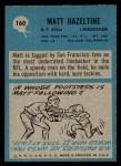 1964 Philadelphia #160  Matt Hazeltine  Back Thumbnail