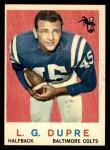 1959 Topps #163  L.G. Dupre  Front Thumbnail