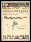 1959 Topps #67  Duane Putnam  Back Thumbnail