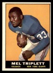 1961 Topps #86  Mel Triplett  Front Thumbnail