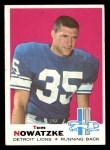 1969 Topps #236  Tom Nowatzke  Front Thumbnail