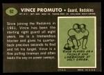 1969 Topps #92  Vince Promuto  Back Thumbnail