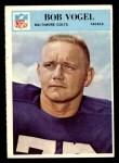 1966 Philadelphia #25  Bob Vogel  Front Thumbnail