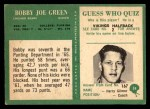 1966 Philadelphia #34  Bobby Joe Green  Back Thumbnail