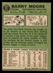 1967 Topps #11  Barry Moore  Back Thumbnail