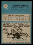 1964 Philadelphia #29  Johnny Brewer  Back Thumbnail