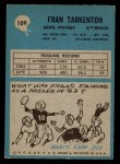 1964 Philadelphia #109  Fran Tarkenton   Back Thumbnail